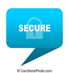 secure blue bubble icon