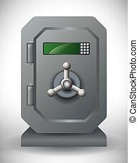 secure box design - secure box graphic design , vector...