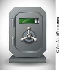 secure box graphic design , vector illustration