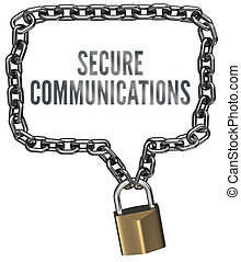 Secure Communications chain lock border - Secure...