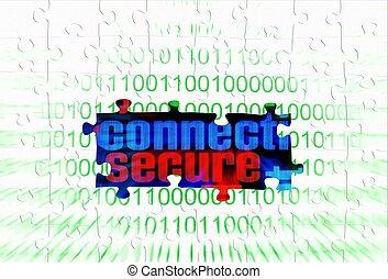 Secure connect puzzle concept