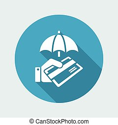Secure credit card - Minimal vector icon