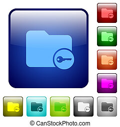 Secure directory color square buttons