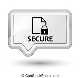 Secure (document page padlock icon) prime white banner button