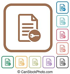 Secure document simple icons