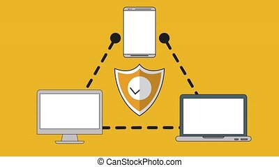 Secure email concept HD animation
