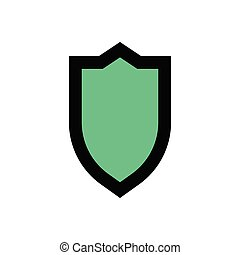 secure  flat color icon