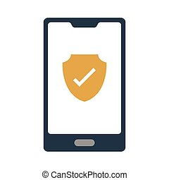 secure flat icon