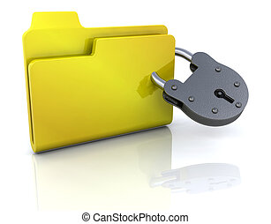 Secure folder - Computer icon for secure folder