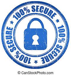 secure, frimærke