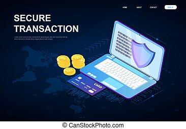 Secure global online transaction concept