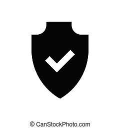 secure glyph flat icon
