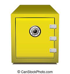 Secure gold metal safe