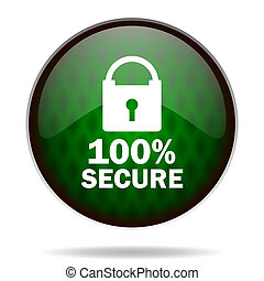 secure green internet icon