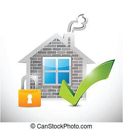 Secure Home Illustration Design