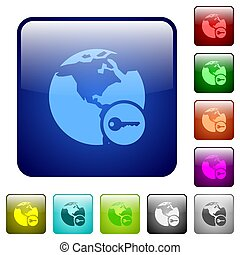 Secure internet surfing color square buttons