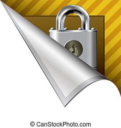 Secure lock corner tab