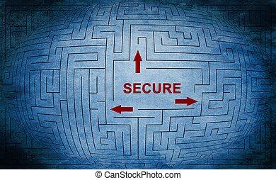 Secure maze concept