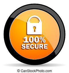 secure orange icon