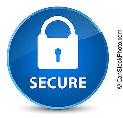 Secure (padlock icon) elegant blue round button
