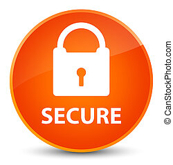 Secure (padlock icon) elegant orange round button