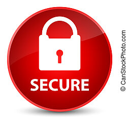 Secure (padlock icon) elegant red round button