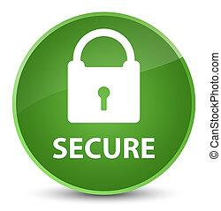 Secure (padlock icon) elegant soft green round button