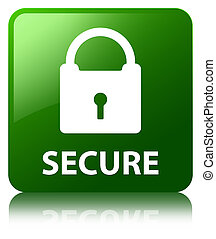 Secure (padlock icon) green square button