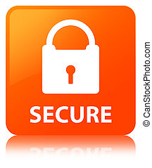 Secure (padlock icon) orange square button