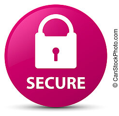 Secure (padlock icon) pink round button
