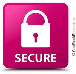 Secure (padlock icon) pink square button