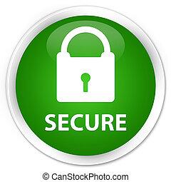 Secure (padlock icon) premium green round button