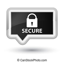 Secure (padlock icon) prime black banner button