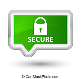 Secure (padlock icon) prime green banner button