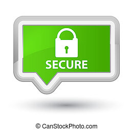 Secure (padlock icon) prime soft green banner button