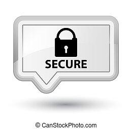 Secure (padlock icon) prime white banner button