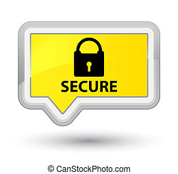 Secure (padlock icon) prime yellow banner button