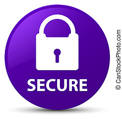 Secure (padlock icon) purple round button