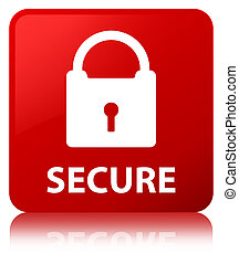 Secure (padlock icon) red square button
