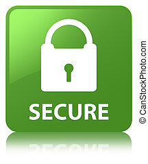 Secure (padlock icon) soft green square button
