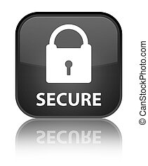 Secure (padlock icon) special black square button