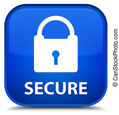 Secure (padlock icon) special blue square button