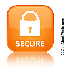 Secure (padlock icon) special orange square button