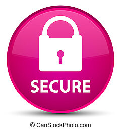 Secure (padlock icon) special pink round button