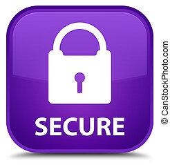 Secure (padlock icon) special purple square button
