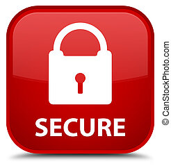 Secure (padlock icon) special red square button