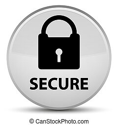 Secure (padlock icon) special white round button