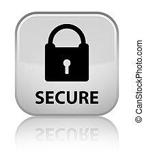 Secure (padlock icon) special white square button