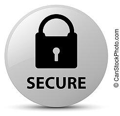 Secure (padlock icon) white round button