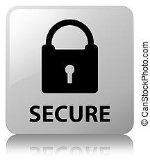 Secure (padlock icon) white square button